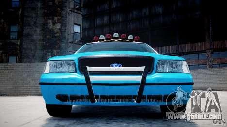 Ford Crown Victoria Classic Blue NYPD Scheme for GTA 4 interior