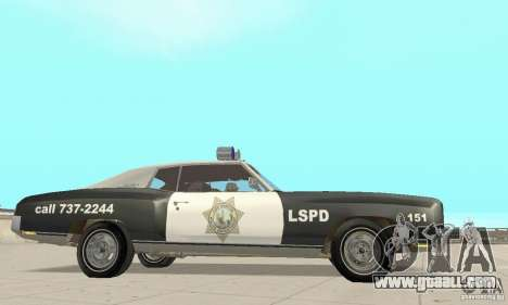 Chevrolet Monte Carlo 1970 Police for GTA San Andreas right view