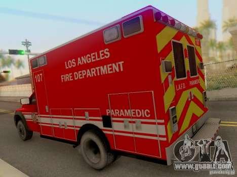 Dodge Ram 1500 LAFD Paramedic for GTA San Andreas back left view
