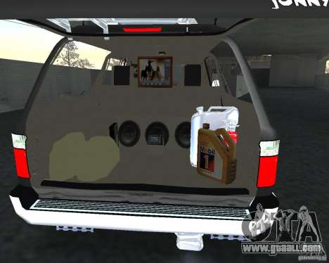 Toyota Surf v2.1 for GTA San Andreas bottom view
