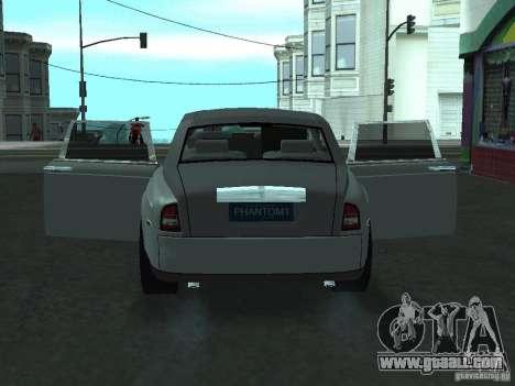 Rolls-Royce Phantom Limousine 2003 for GTA San Andreas back view