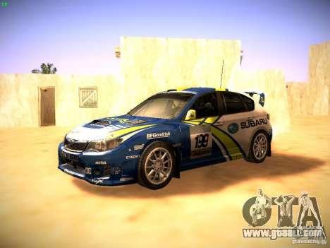 Subaru impreza Tarmac Rally for GTA San Andreas left view