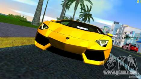 Lamborghini Aventador LP 700-4 for GTA Vice City back left view