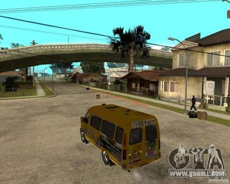 Gaz Gazelle 2705 Minibus for GTA San Andreas left view