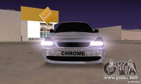 LADA 2170 Chrome for GTA San Andreas left view