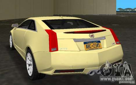 Cadillac CTS-V Coupe for GTA Vice City right view
