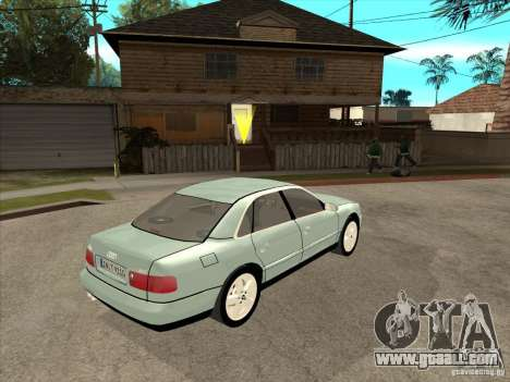 Audi A8 Long 6.0 W12 2002 for GTA San Andreas back view