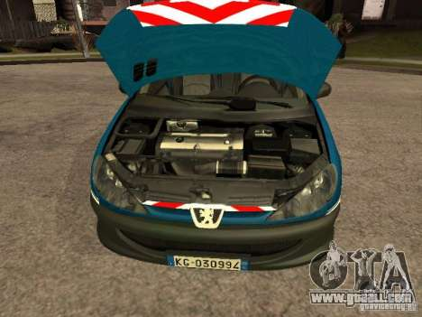 Peugeot 206 Police for GTA San Andreas right view