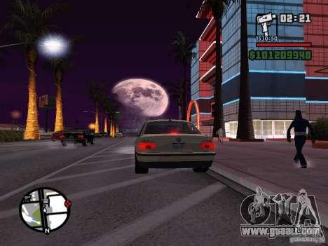 BMW 750i (e38) for GTA San Andreas left view