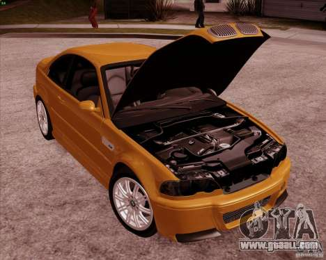 BMW M3 E46 stock for GTA San Andreas upper view