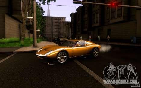 Lamborghini Miura Concept for GTA San Andreas back left view