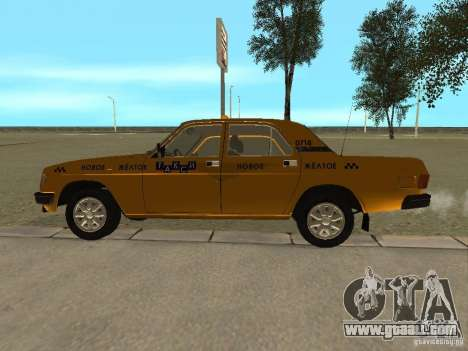 GAZ 31029 Taxi for GTA San Andreas back left view