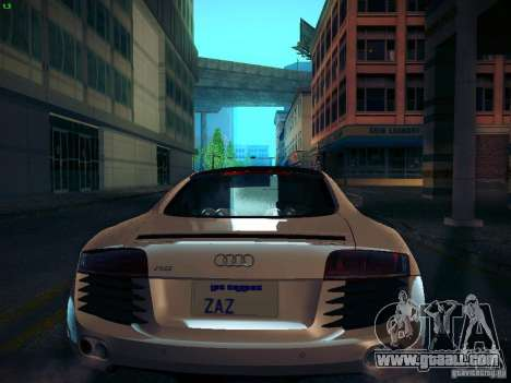 Audi R8 V10 for GTA San Andreas back view