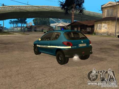 Peugeot 206 Police for GTA San Andreas left view
