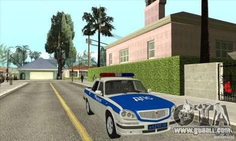 GAZ 31105 Volga DPS for GTA San Andreas back view