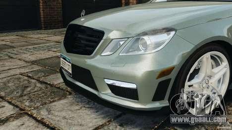 Mercedes-Benz E63 AMG for GTA 4 bottom view