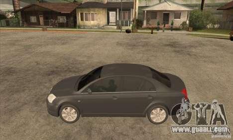 Toyota Avensis 2.0 16v VVT-i D4 Executive for GTA San Andreas left view