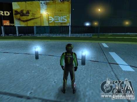 Falken Monster Energy PED for GTA San Andreas second screenshot