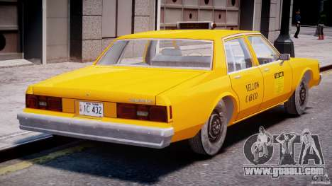 Chevrolet Impala Taxi 1983 [Final] for GTA 4 right view
