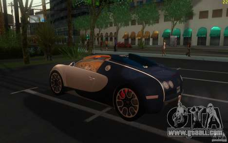Bugatti Veyron 16.4 Grand Sport Sang Bleu for GTA San Andreas left view