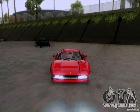 Ferrari 288 GTO for GTA San Andreas back left view