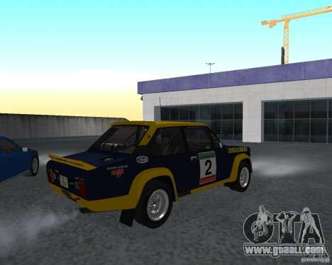 Fiat 131 Rally for GTA San Andreas back left view