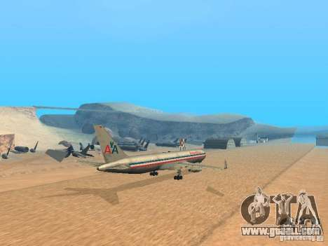 Boeing 767-300 American Airlines for GTA San Andreas back left view