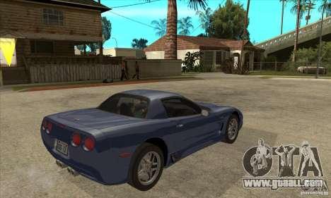 Chevrolet Corvette 5 for GTA San Andreas wheels