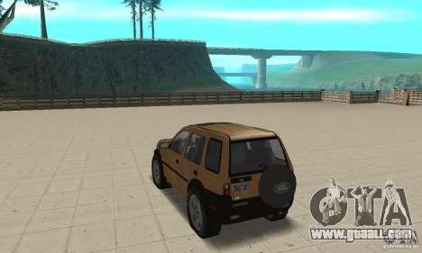 Land Rover Freelander KV6 for GTA San Andreas back left view