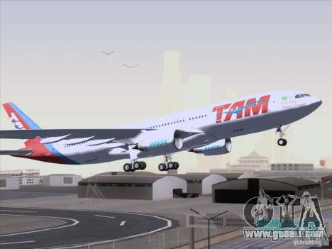 Airbus A330-223 TAM Airlines for GTA San Andreas back left view