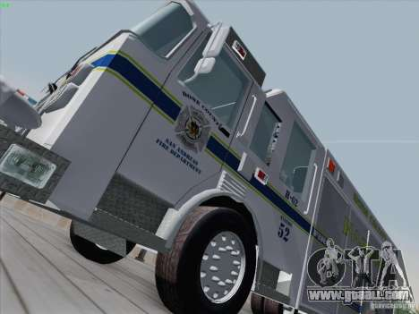 Pierce Fire Rescues. Bone County Hazmat for GTA San Andreas left view
