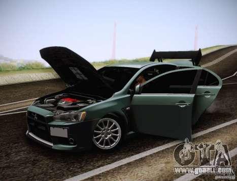Mitsubishi Lancer Evolution Drift Edition for GTA San Andreas side view