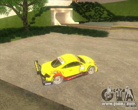 Audi TTR DTM racing car for GTA San Andreas left view