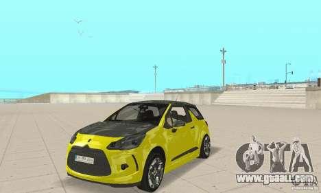 Citroen Ds3 Sport 2011 for GTA San Andreas