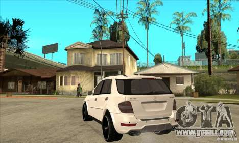 Mercedes-Benz ML 63 for GTA San Andreas back left view