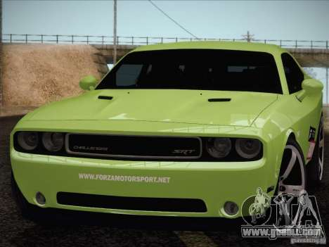 Dodge Challenger SRT8 2010 for GTA San Andreas right view