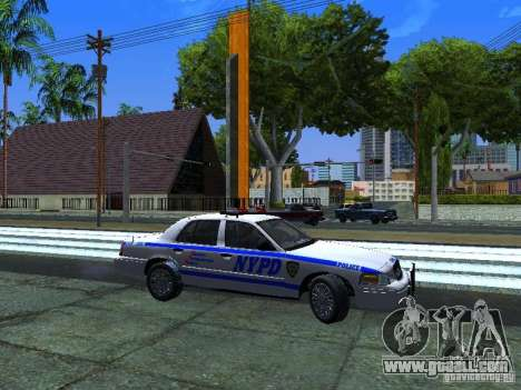 Ford Crown Victoria 2009 New York Police for GTA San Andreas left view