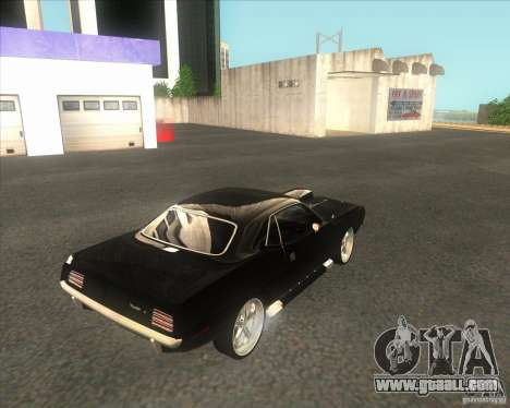 Plymouth Barracuda for GTA San Andreas back left view