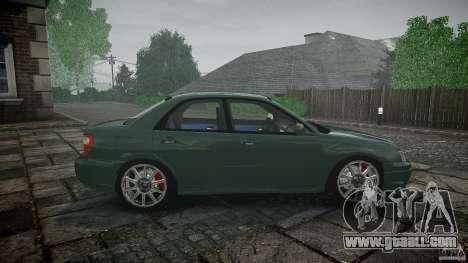 Subaru Impreza v2 for GTA 4 upper view