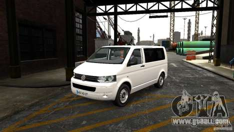 Volkswagen T5 Facelift for GTA 4 back view