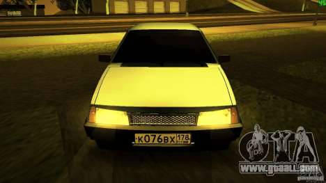VAZ 2109 Light Tuning for GTA San Andreas back view