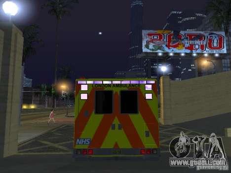 London Ambulance for GTA San Andreas inner view