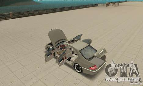 Mercedes-Benz S65 AMG 2004 for GTA San Andreas inner view