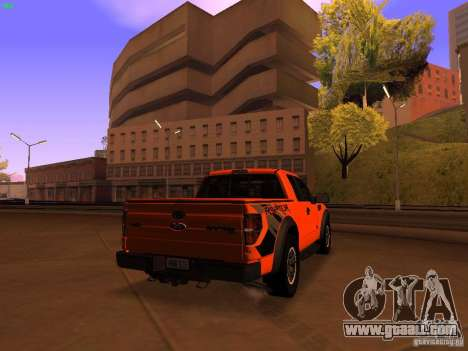 Ford F-150 SVT Raptor 2009 Final for GTA San Andreas back left view