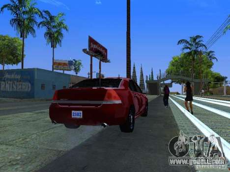 Chevrolet Impala Unmarked for GTA San Andreas inner view