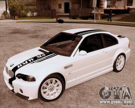 BMW M3 E46 stock for GTA San Andreas left view