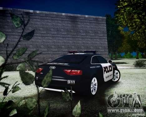Audi S5 Police for GTA 4 left view