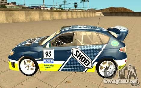 New vinyls to Subaru Impreza WRX STi for GTA San Andreas bottom view
