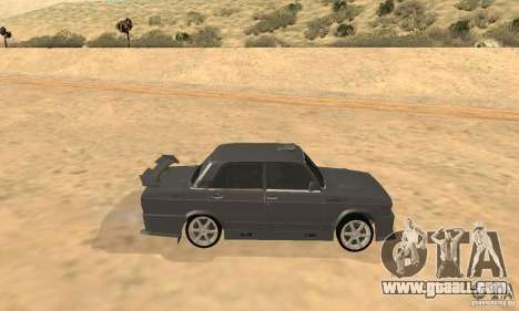 VAZ 2105 Night Hunter for GTA San Andreas back left view