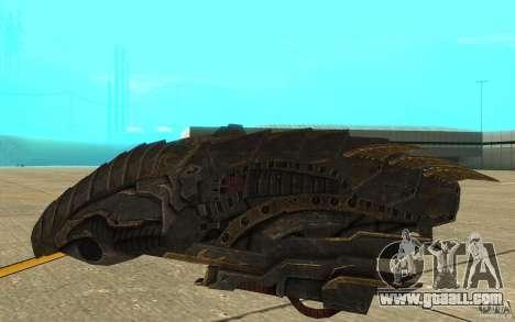 Starship Predator from the game Aliens vs Predat for GTA San Andreas back left view